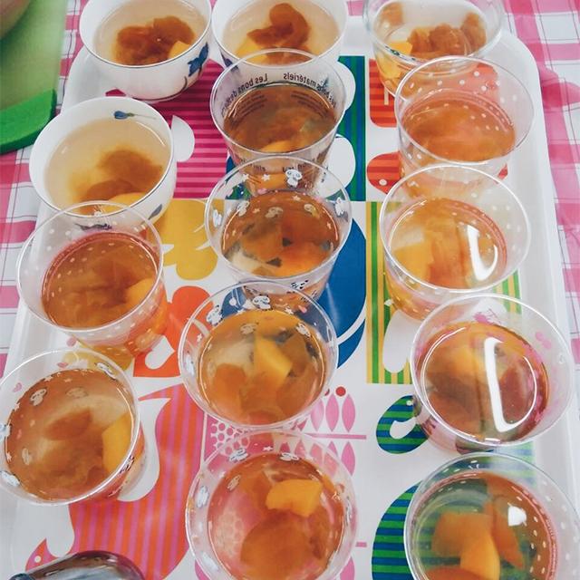 梅シロップゼリー作り